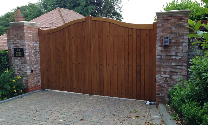 timber gate with studs