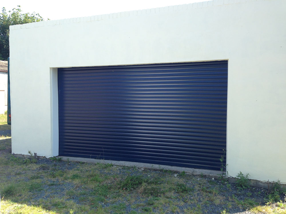 Blue Roller Garage Door installed in Foxholes North Yorkshire