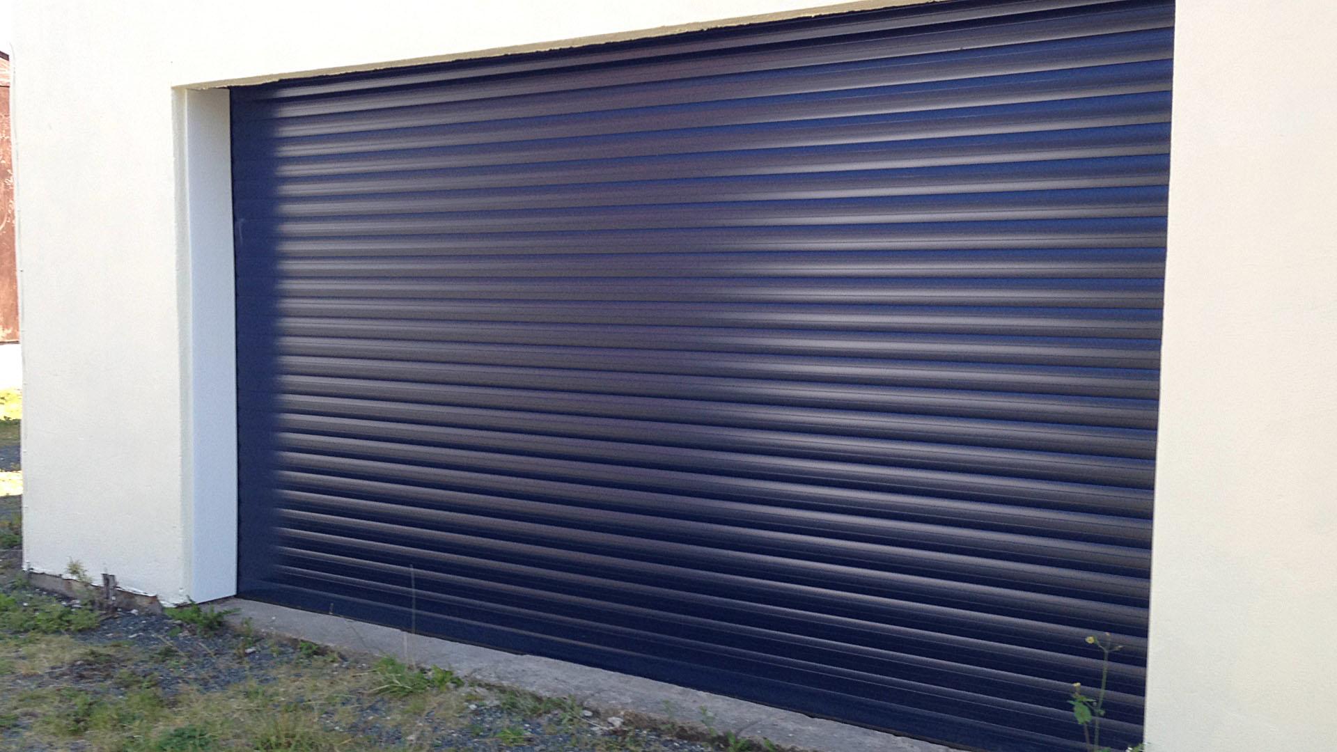 Blue Roller Garage Door Installed In Foxholes North Yorkshire