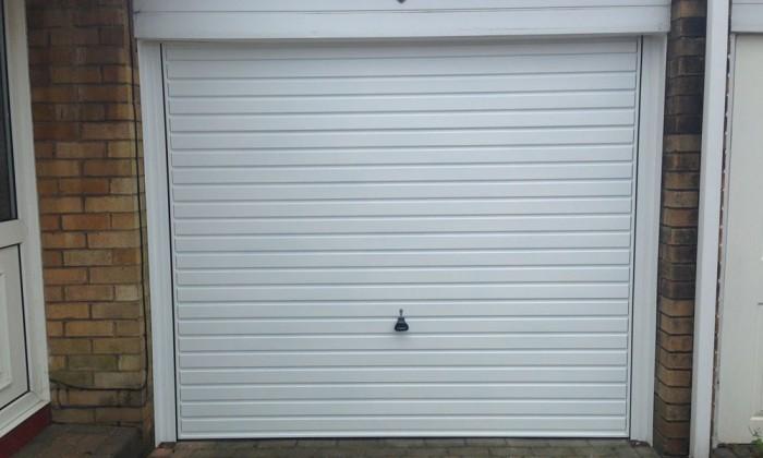 canopy garage door white