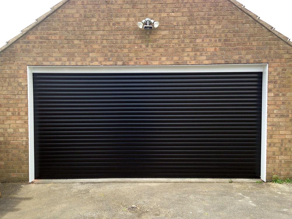 Black Roller Garage Door Installed In East Yorkshire By