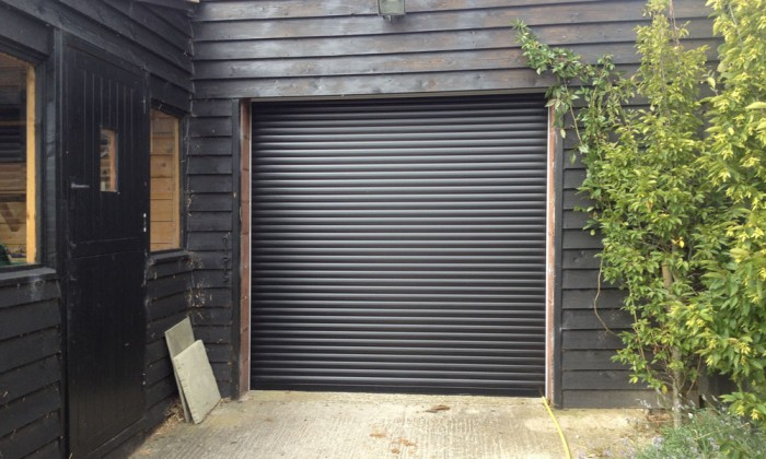 Perfect Black Roller Garage Door