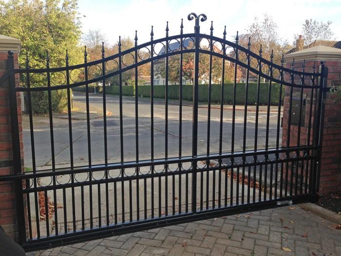 Sliding Wrought Iron Gate Bft Automation East Yorkshire