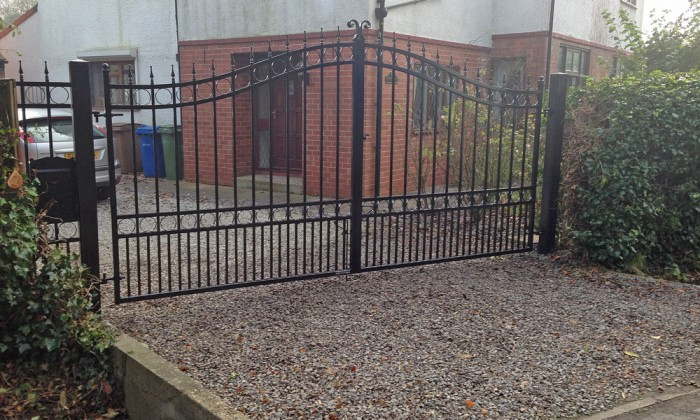 black wrought iron gates