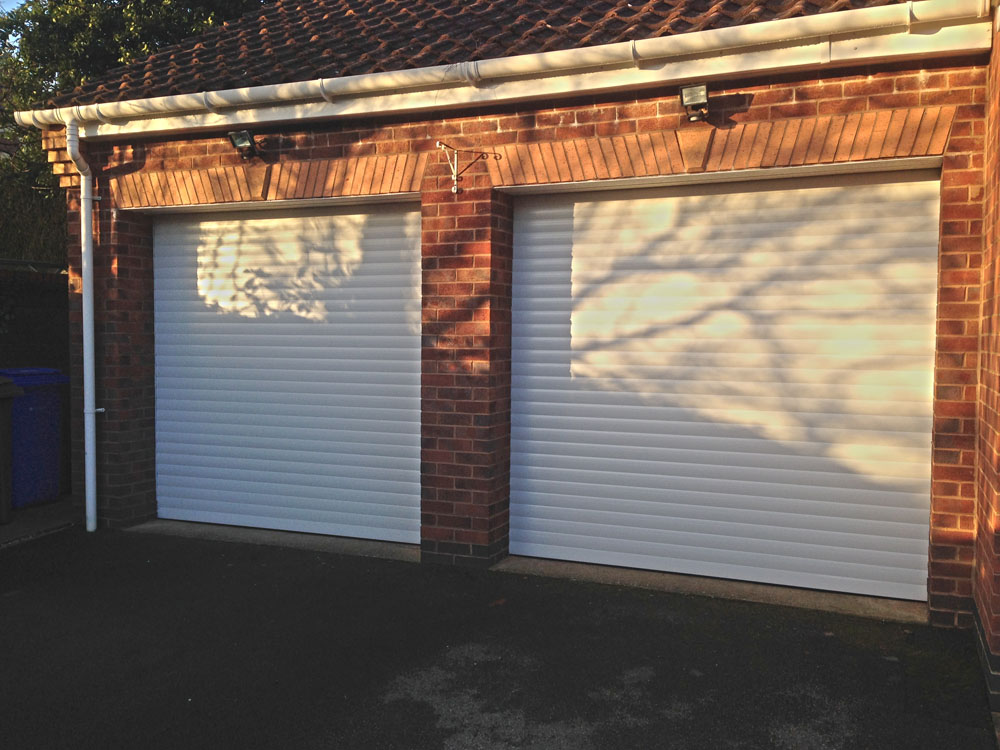 Insulated White Roller Garage Doors Installed In Yorkshire
