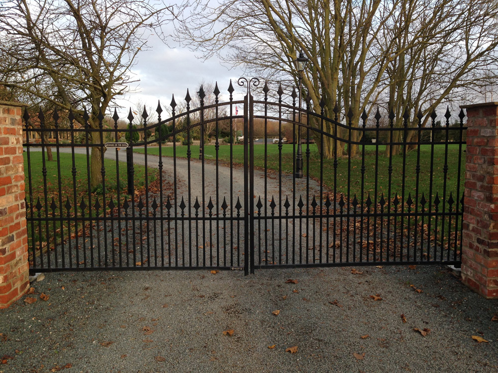 Wrought Iron Gates Installed In Leconfield Yorkshire