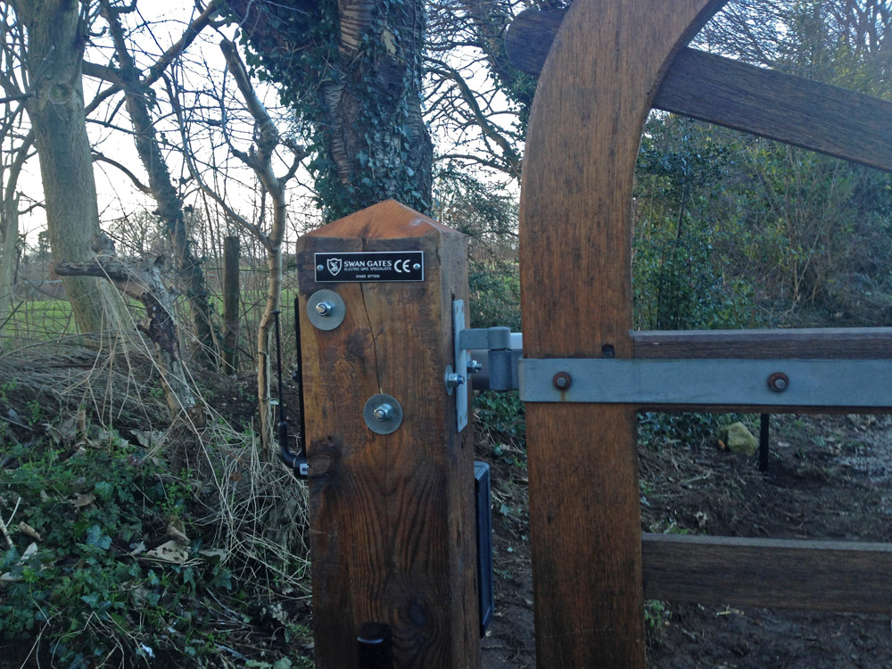 Electric 5 Bar Farm Gate Timber Wooden Automated Yorkshire