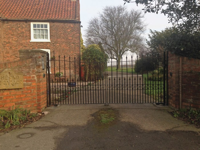 Renewed wrought iron gates