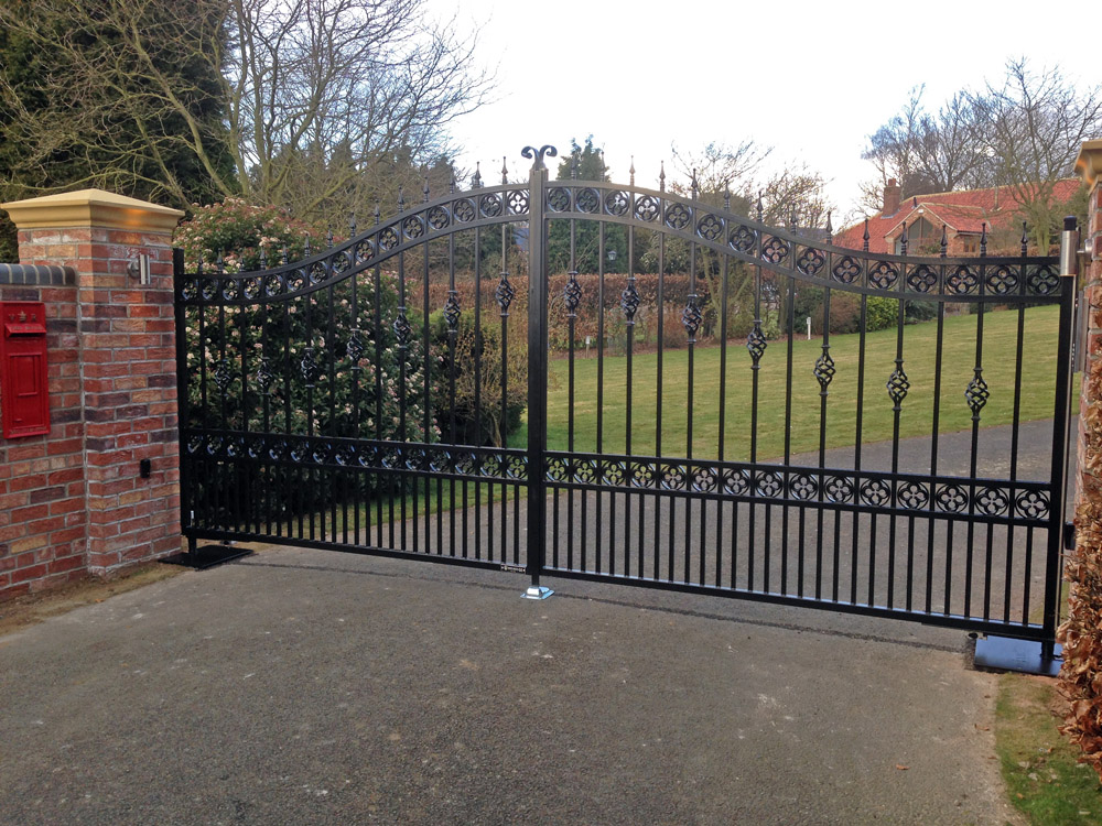 Wrought Iron Gates Installed In South Cave East Yorkshire