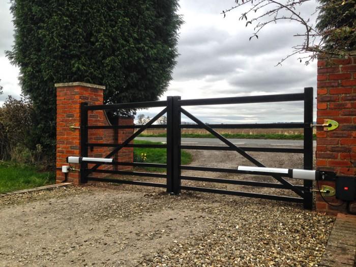 steel farm style gate