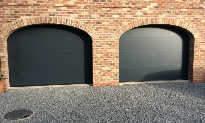 anthracite sectional garage door hull
