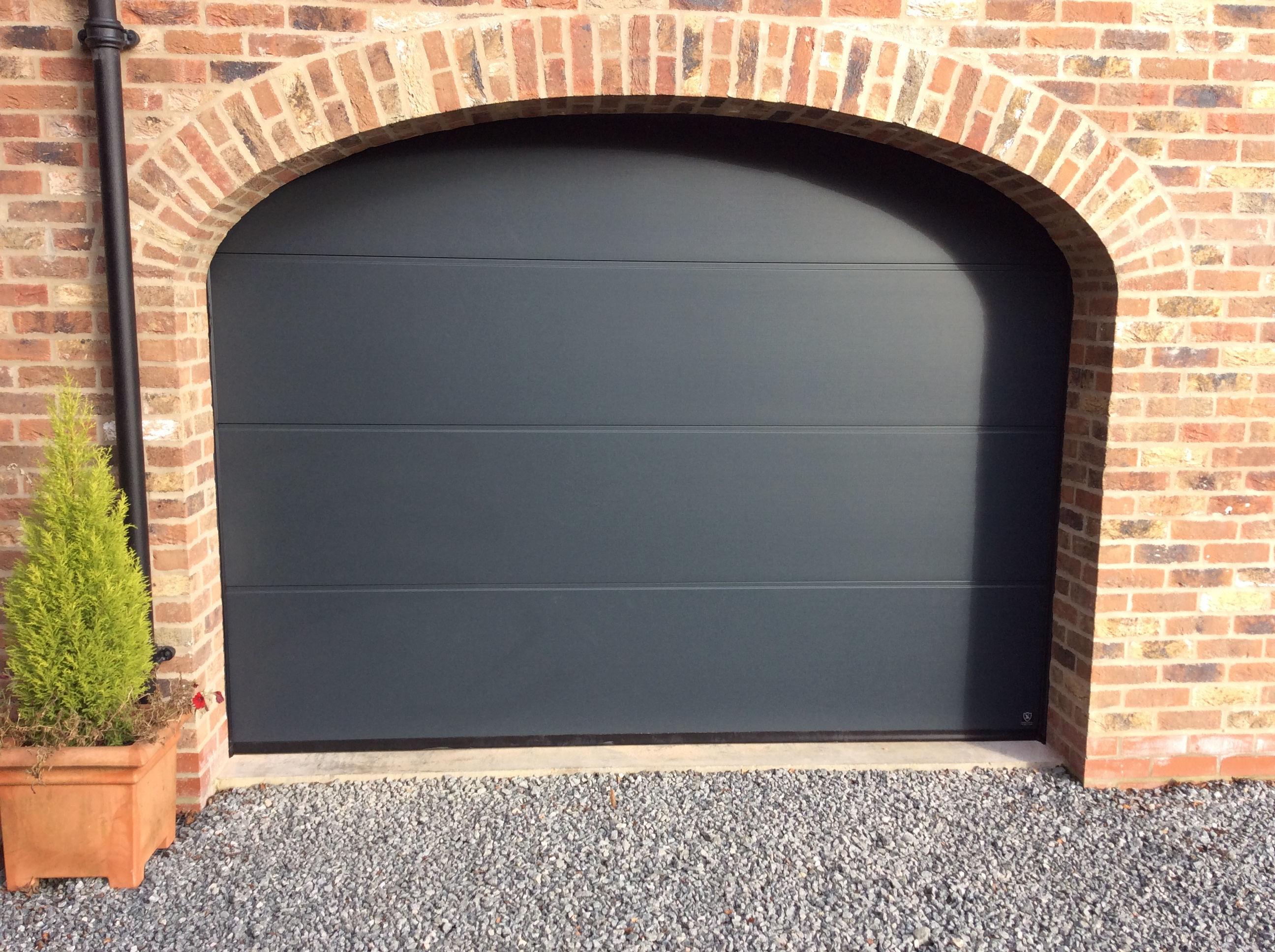 Anthracite Sectional Garage Doors