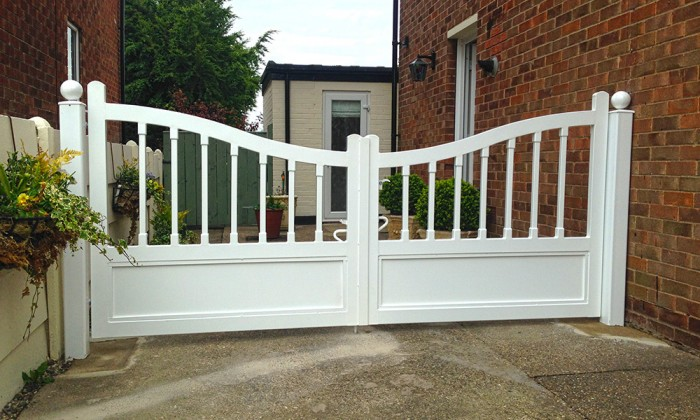 steel gates designed like timber gates wood gates