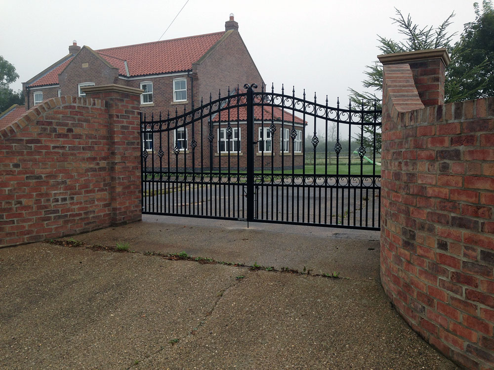 wrought iron swing gates