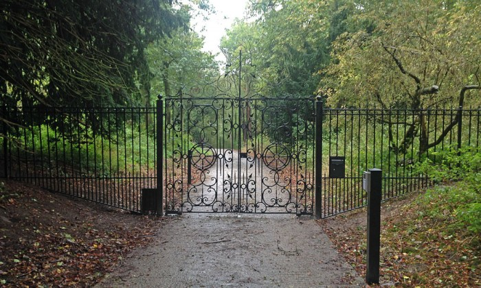 estate entrance railings
