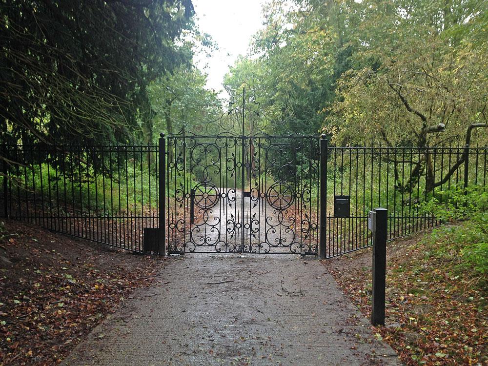 estate entrance railings