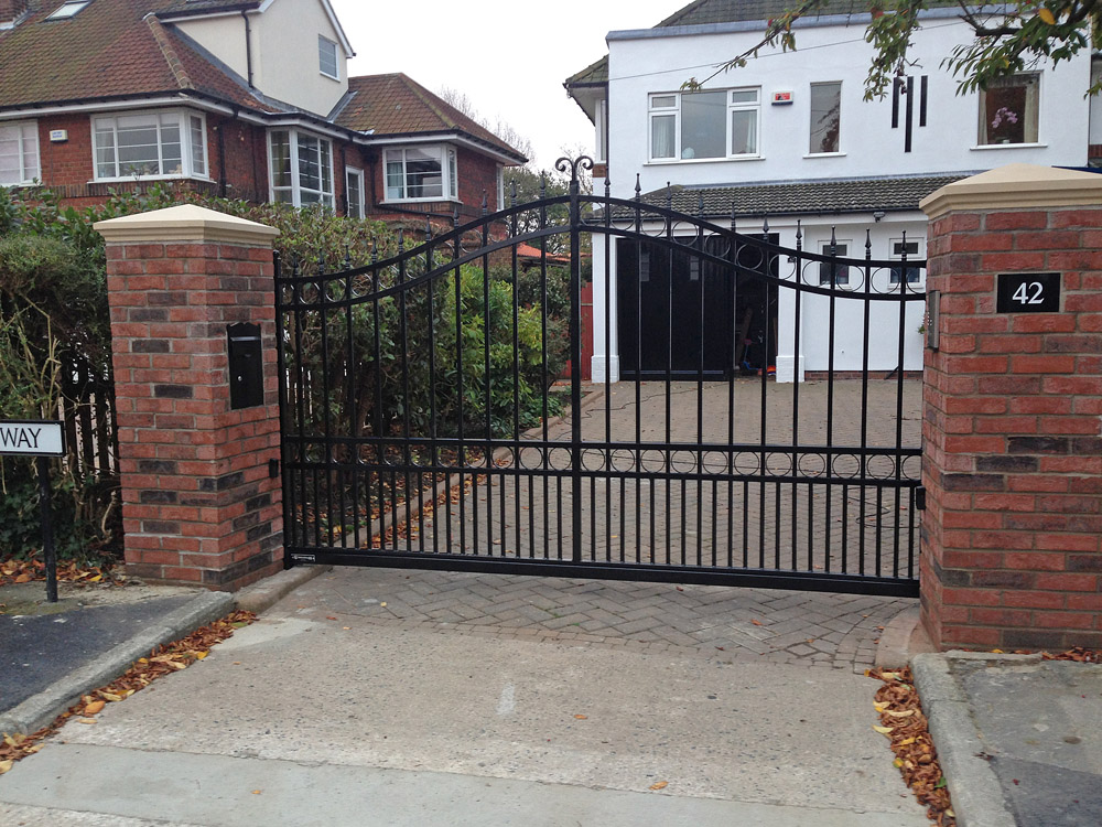 Sliding Wrought Iron Gate Bft Automation East Yorkshire