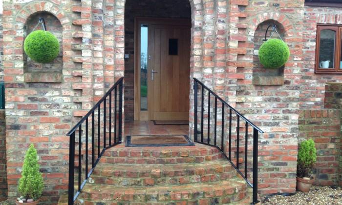 bespoke entrance handrail