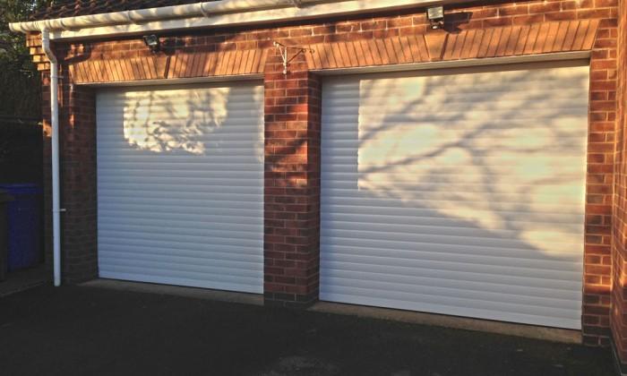 white roller garage door