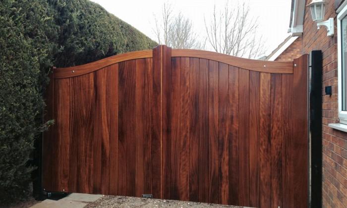 Iroko Wood Gates