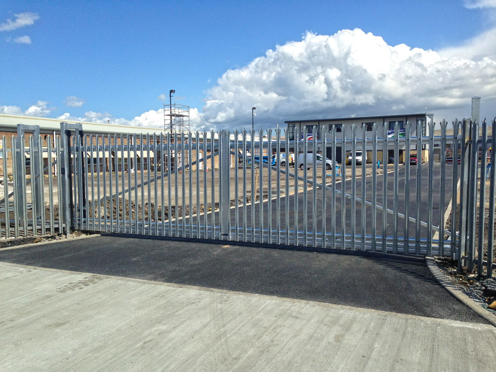 Commercial Gate Hull Palisade Cantilever Sliding Gate