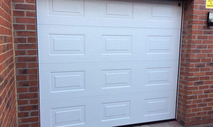 Georgian panelled garage door