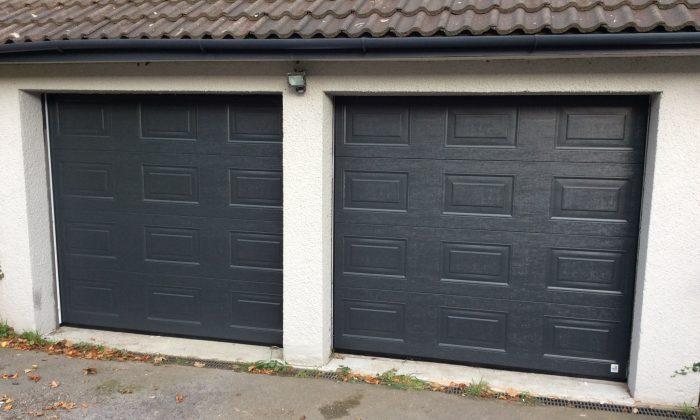 grey Georgian panelled sectional door