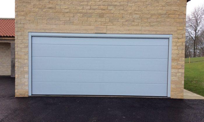 light grey sectional garage door