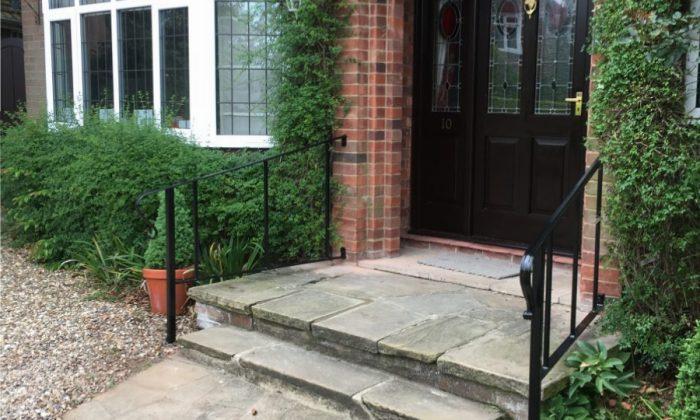 Custom entrance handrails